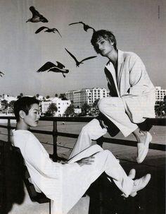 Jenny Shimizu & Manon von Gerkan | Photography by Gilles Bensimon | For Elle Magazine US | February 1994