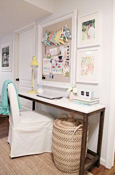 IHeart Organizing: Studio Update: DIY Wood Console Desk