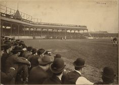 Game 4 of the 1903 World Series at Exposition Park, Pittsburgh. 1903 World Series, World Series History, First World Series, Series 3, Pittsburgh Sports, Pittsburgh Pirates, World Series Tickets, Baseball Park, Pirates Baseball