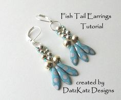 Fish Tail Earrings - via @Craftsy