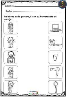 Community Helpers Worksheets, Community Helpers Preschool, Kids Math Worksheets, Vocabulary Activities, Preschool Learning Activities, Free Preschool, Preschool Printables, Kids Learning, Nursery Rhymes Preschool