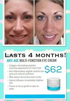 This eye cream is AMAZING. I've been searching for YEARS for something that actually works. My under eye circles are finally going away! Order from consultant Brandi Mitchell