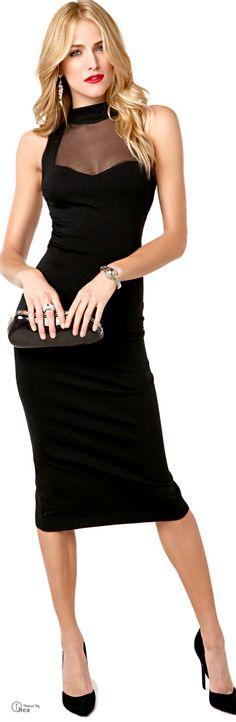 Gorgeous Midi Black Dress