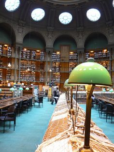 Library reading room, Paris France