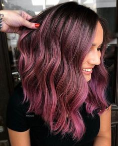 Magenta Hair Colors, Cute Hair Colors, Hair Dye Colors, Cool Hair Color, Purple Hair, Ombre Hair, Hair Color Ideas, Different Hair Colors, Medium Hair Styles