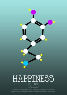 Happiness Molecule  Inspired Lifestyle Design.  http://JaysonShawver.com- dopamine is a precursor molecule to adrenaline and noradrenaline which exhibit the emotion.