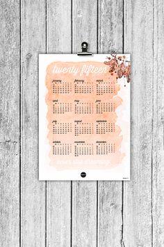 ~ Calendar 2015 ~ made by Designparken. Designparken. Follow on instagram: @designparken