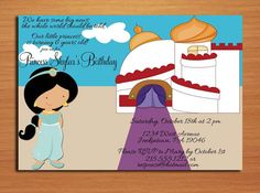 Princess Jasmine / Aladdin Birthday Party by Sapphiredigitalworks, $15.00