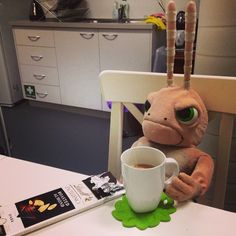 "October 2014: Quote of the day from Serge: ""Am I the only one that needs tea and chocolate to start the day?"" Ayayay!"