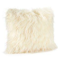 Ivory Mongolian Lamb Faux Fur Pillow – Dorm-Decor