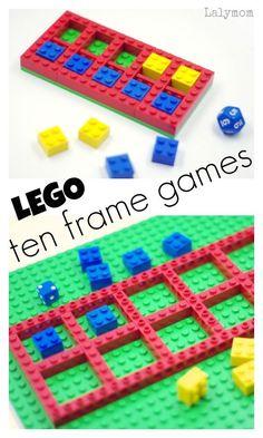 LEGO Math Games - Fun ideas for ten frame games for kidsYou can find Lego math and more on our website.LEGO Math Games - Fun ideas for ten frame games for kids Ten Frame Activities, Math Activities For Kids, Fun Math Games, Preschool Math, Math Classroom, Kindergarten Math, Teaching Math, Kids Math, Lego Games