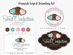Custom Bakery Logo Design Cake Logo Branding Kit Label Design Boutique Logo +Design Change