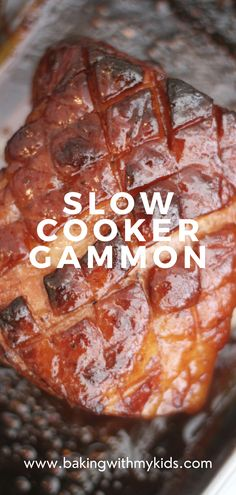 Slow cooker gammon in coke with a honey mustard glaze. An easy recipe that is perfect for the holiday season. #family dinner #slow cooker #gammon #ham #coke #easy recipe #crock pot #joint recipe #christmas dinner #thanksgiving dinner #coke #simple #easy Gammon Recipes, Ham Recipes, Slow Cooker Recipes, Healthy Recipes, Quick Weeknight Dinners, Easy Family Dinners, Easy Meals, Gammon In Coke, Honey Glazed Gammon