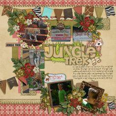 Jungle Trek     Kellybell Designs: Not a Zoo! Kit Not a Zoo! Page Starters Not a Zoo! Word Art  Little Green Frog Designs-GrassPie  Patty Wack