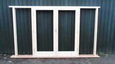Hardwood Wooden French Doors with sidelights! Bespoke! Made to ...
