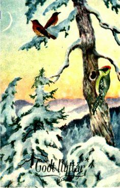 Nyttårskort Paul Lillo-Stenberg Utg Mittet brukt 1951