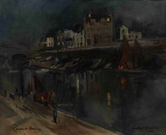 The Athenaeum - Parisian Evening (Constantin Alexeevich Korovin - )