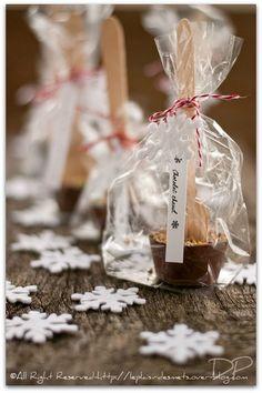 Cadeau gourmand cuillères à chocolat chaud