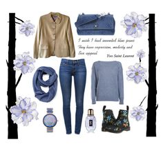 """""""Fifty ways to wear Chanel # 38"""" by sharon-griffith ❤ liked on Polyvore featuring moda, Dot & Bo, Dr. Martens, Old Navy, Chanel, Universal Lighting and Decor, Frame Denim, Porsamo Bleu i Yves Saint Laurent"""