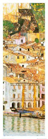Malcesine sul Garda (detail) Gustav One of my fav artists