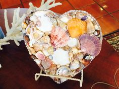 #handcrafted #sea-shell #pearl #heart #home-decoration
