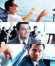 Leonardo DiCaprio in The Wolf of Wall Street. Good God almighty. He's so handsome.