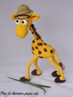 Giraffe R200 Tweety, Giraffe, Dinosaur Stuffed Animal, Toys, Handmade, Animals, Character, Art, Activity Toys