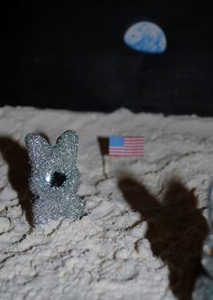 2011 Contest One Giant Peep for Mankind Photo posted by: Stacy Schonhardt Peeps in Space! Neil Armpeep poses with Peep Aldrin in the foreground.
