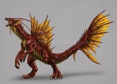 Alien Creatures, Fantasy Creatures, King Kong Vs Godzilla, Cool Monsters, Dragon Pictures, Creature Concept, Dragon Art, Pokemon, Creature Design