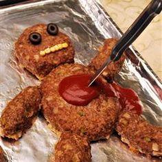 Dead Man Meatloaf Allrecipes.com. Perfect for Halloween!