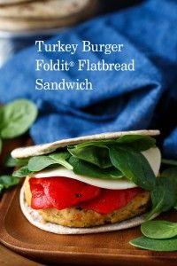 Turkey Burger Foldit® Flatbread Sandwich