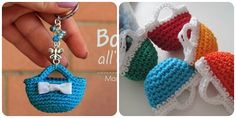 Come fare borsettine a uncinetto: schema scritto e video tutorial passo passo per realizzare mini borsette a crochet facili da fare. Crochet Needles, Knit Crochet, Easy Crochet Patterns, Easy Gifts, Amigurumi Doll, Baby Items, Tatting, Free Pattern, Diy And Crafts
