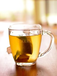 great for colds/sore throats. Green tea with peppermint leaves, ginger root and honey