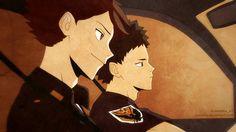 Haikyuu !!  Oikawa i Iwaizumi przez Suncelia
