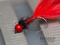 6 Red Booby fishing flies Trout Flies Lures Size 10- Good for Rainbow Trout