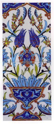 Turkish floral tiles by Sıtkı Olçar