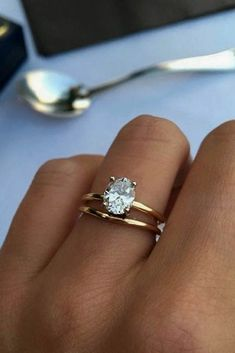 27 Simple Engagement Rings For Girls Who Love Classic ❤️ simple engagement rings oval cut diamond rose gold solitaire ❤️ See more: http://www.weddingforward.com/simple-engagement-rings/ #wedding #bride #engagementrings