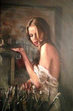 """Saatchi Art Artist William Oxer; Painting, """"In The Artist's Studio"""" #art"""