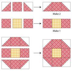 Shoofly Quilt Block (Variation - Quilt Block Assembly