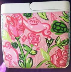 Hand painted Lilly coolers. TSM.