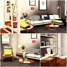 Urban Living by Simberry / Kitchen / Livingroom / Sims 3 / Apartment Sims 3 Apartment, Free Sims, Apartments, Entryway, Urban, Living Room, Kitchen, House, Furniture