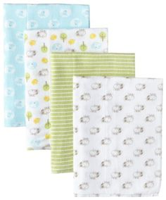 Gerber Unisex-Baby Newborn 4-Pack Flannel Burp Cloths *** More info could be found at the image url.