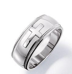 Avon Men's Stainless Steel Cross Ring www.youavon.com/marycorso