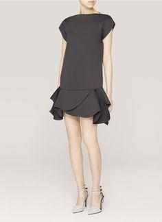 GIVENCHY - Ruffled neoprene dress - on SALE   Black Cocktail Dresses   Womenswear   Lane Crawford - Shop Designer Brands Online