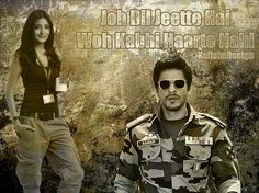 #NafishaDesign Hindi Sharukh khan Jab tak hai jaan Bollywood
