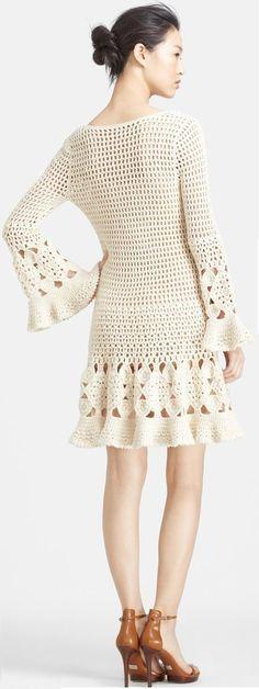 Michael Kors - Hand Crochet Cashmere & Cotton Dress