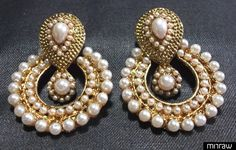 Elegant pearl earrings