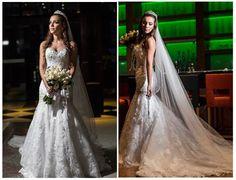 Noiva | Bride | Vestido | Dress | Vestido de noiva | Wedding dress | Bride's dress | Inesquecivel Casamento | Renda | Rendado | Vestido rendado | Véu | Véu de noiva | Grinalda | White dress | Vestido bordado | Bordado | Decote | Vestido branco