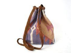 Santoki Vintage: Wool and Leather Backpack.