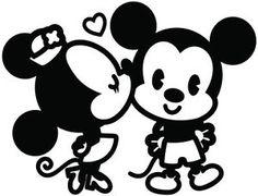 2-X-Mickey-Minnie-Mouse-Kissing-pegatina-de-Vinilo-calcomania-auto-56-Colores-Envio-Gratis